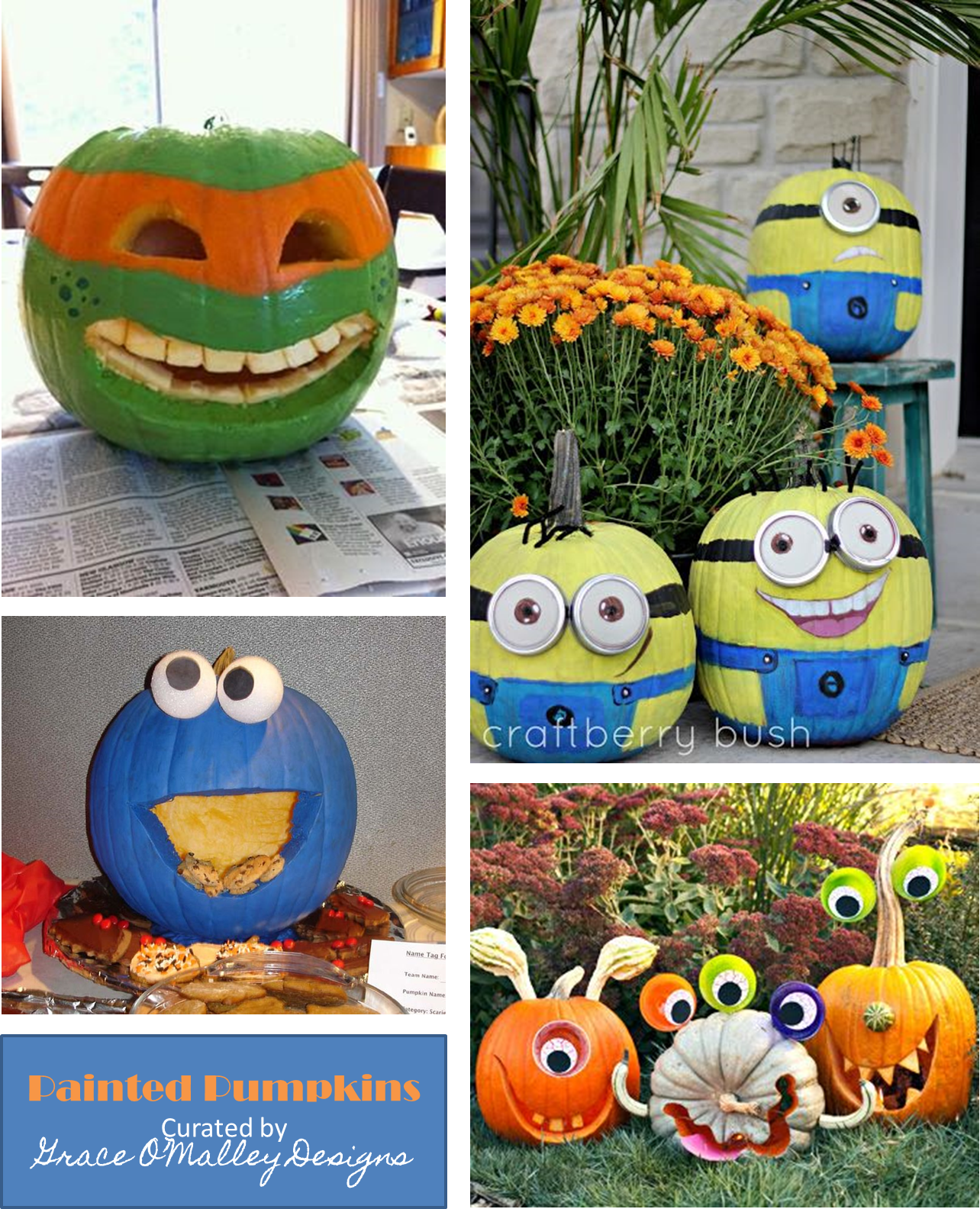 pumpkin carving ideas for halloween via grace o'malley designs