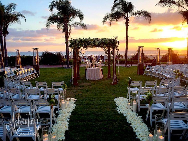 Hotel del wedding under the night sky san diego wedding