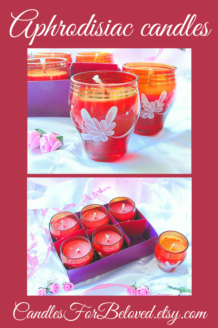 This Honeymoon Gift Candle Set In Red Vintage Shot Glasses Is Perf
