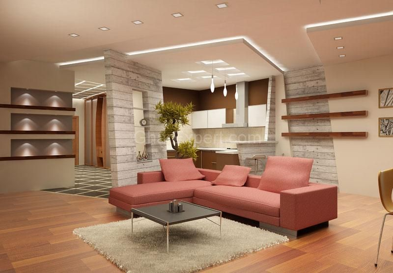 Beau Ceiling Design In Living Room, Shows More Than Enough About How To Decorate  A Room