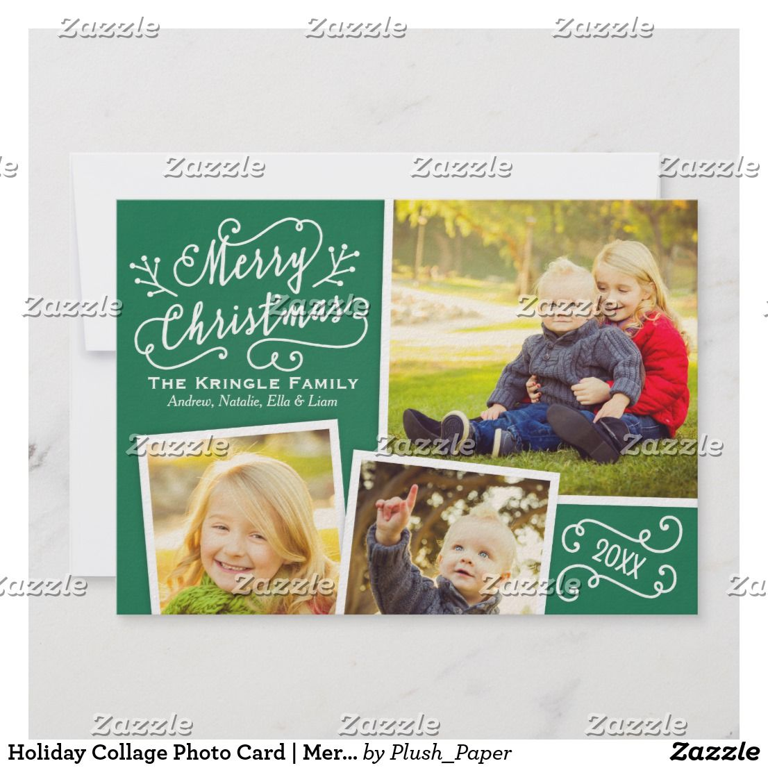 Holiday Collage Photo Card Merry Christmas Stylish Merry Christmas Photo Car Photo Collage Christmas Card Merry Christmas Card Photo Merry Christmas Photos