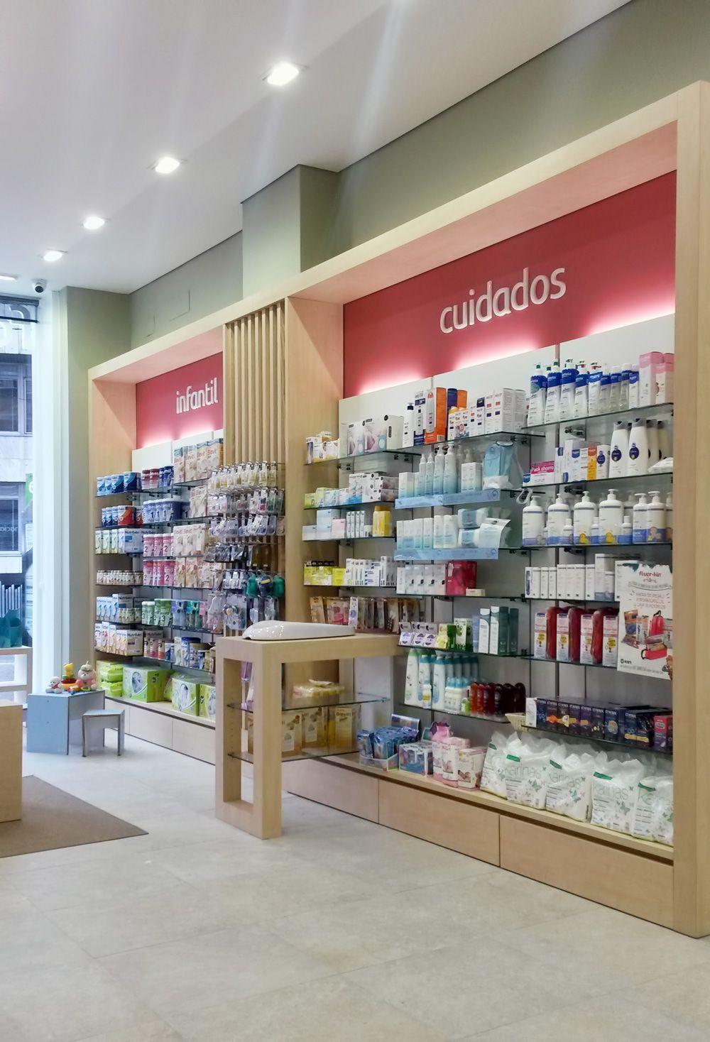 proyecto de diseo mobiliario y reforma de la farmacia calle corua entra y mira pharmacy designretail interiorinterior ideasbusiness
