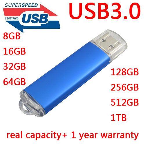 תוספת High Speed Black Blue Memoria USB Flash Drive 64GB USB 3.0 Pen MD-23