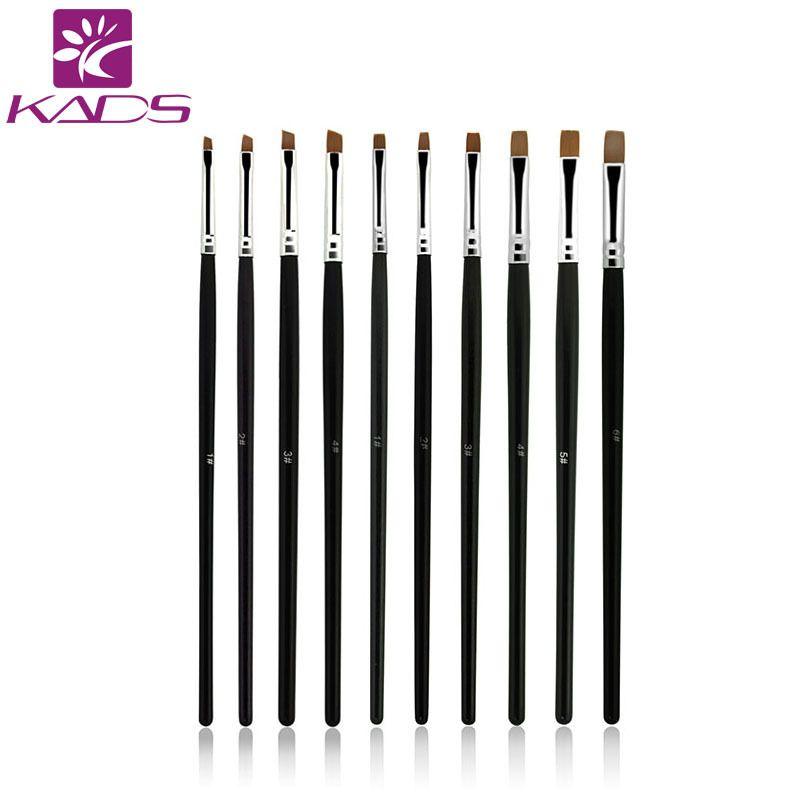 KADS 10pcs/SET Nail Art Design Brush Spiral Gel Pen Tips Tool for ...