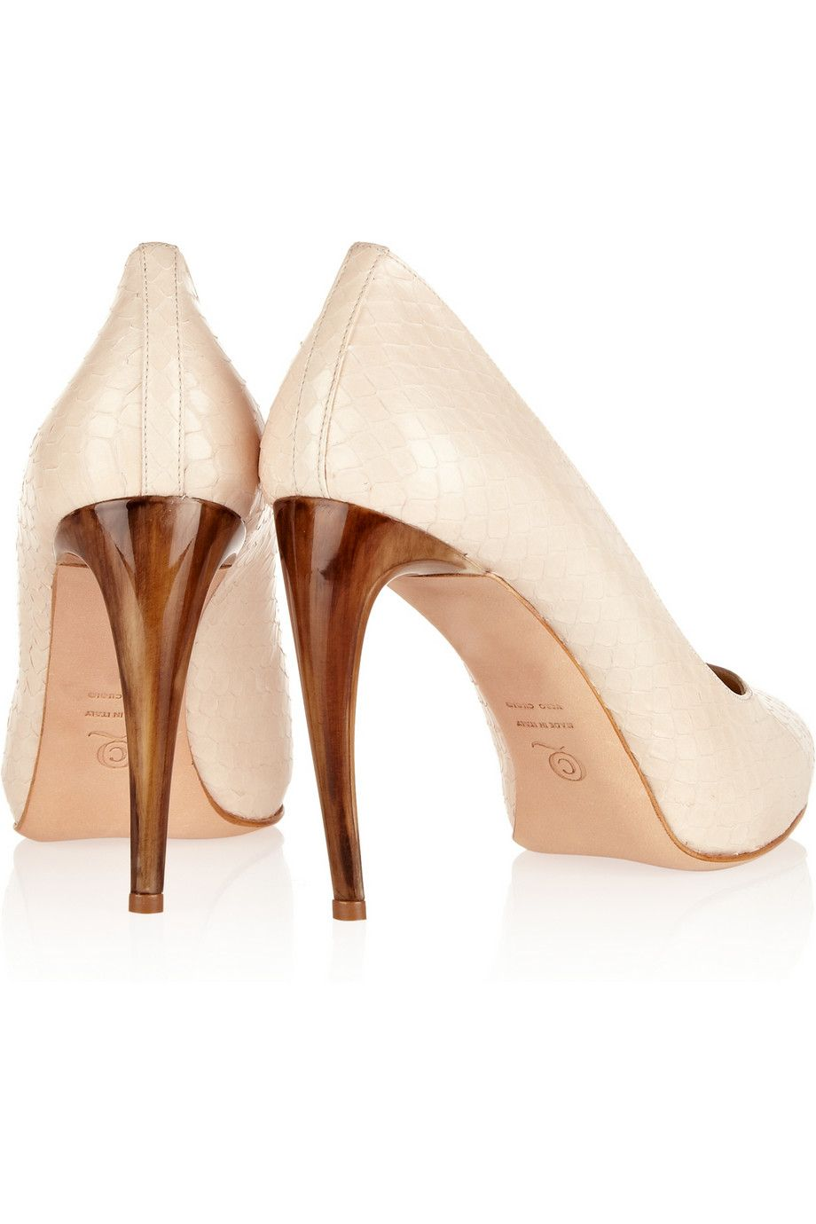 Alexander McQueen Snakeskin pumps - 60% Off Now at THE OUTNET