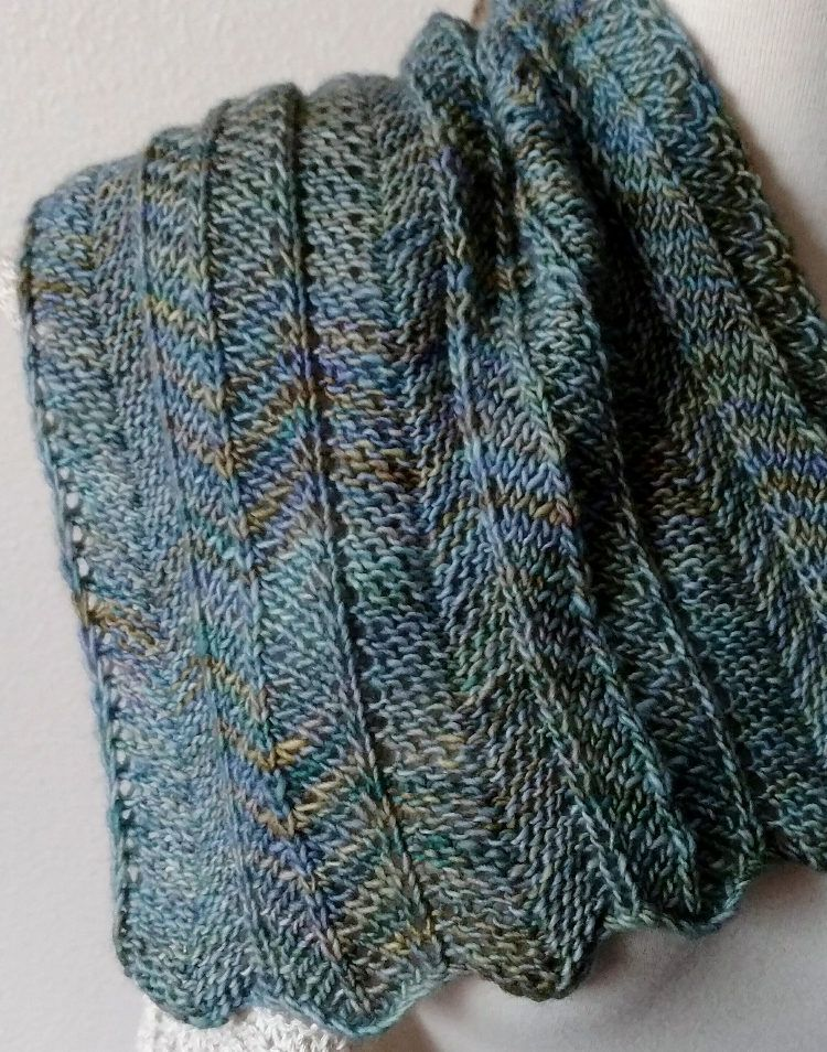 One Row Chevron Scarf Pattern By Nick Davis Scarfs Pinterest