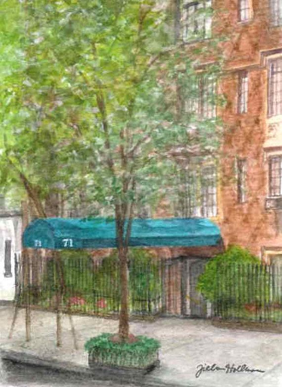 House Portrait: upper east side apartment building (closing gift from realtor)