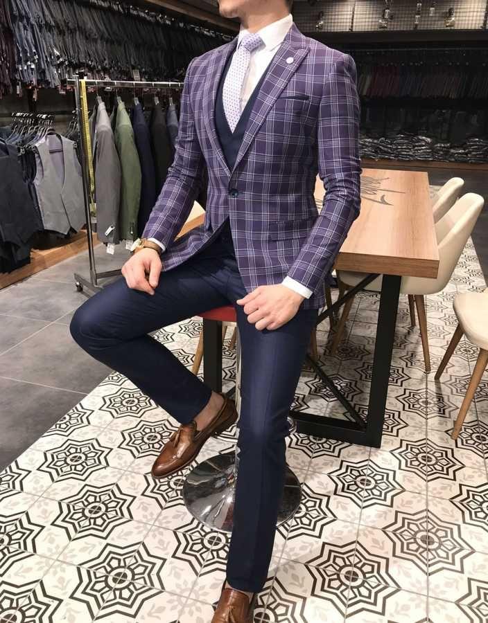 Terziademaltun Italyan Stil Slim Fit Ceket Yelek Pantolon Cok Renkli Takim Elbise T3120 1 Mens Fashion Suits Stylish Mens Outfits Mens Fashion Sweaters