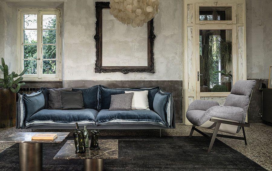 Tendenza arredo 2017 divano in velluto arketipo for Arredo e sofa