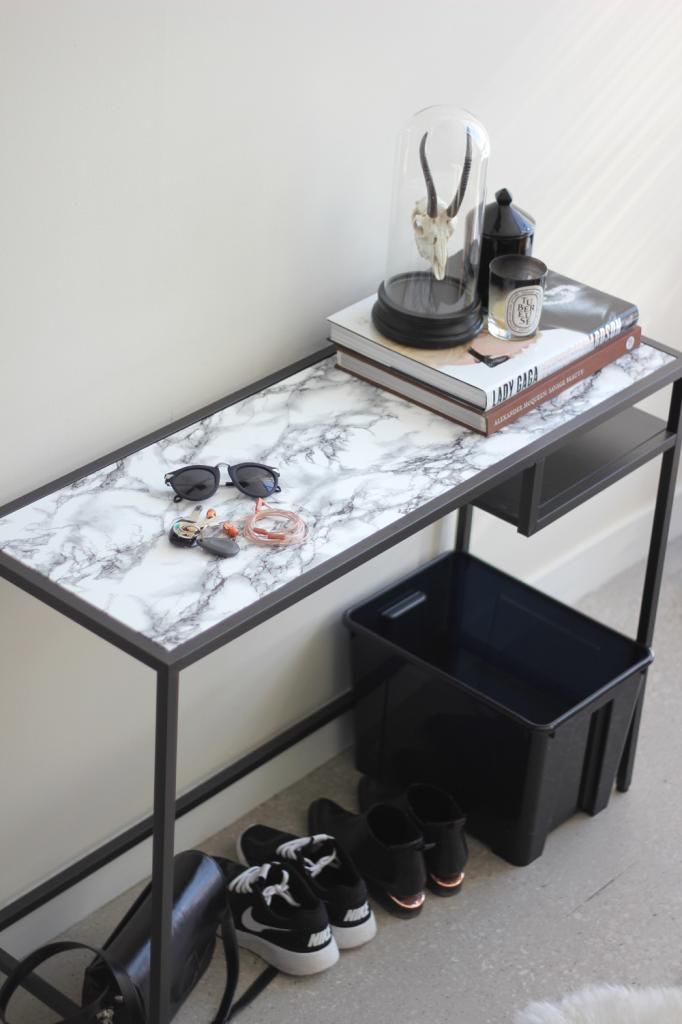 how to diy a faux marble table surface | http://www.ikea.com/ca/en/catalog/products/80221352/