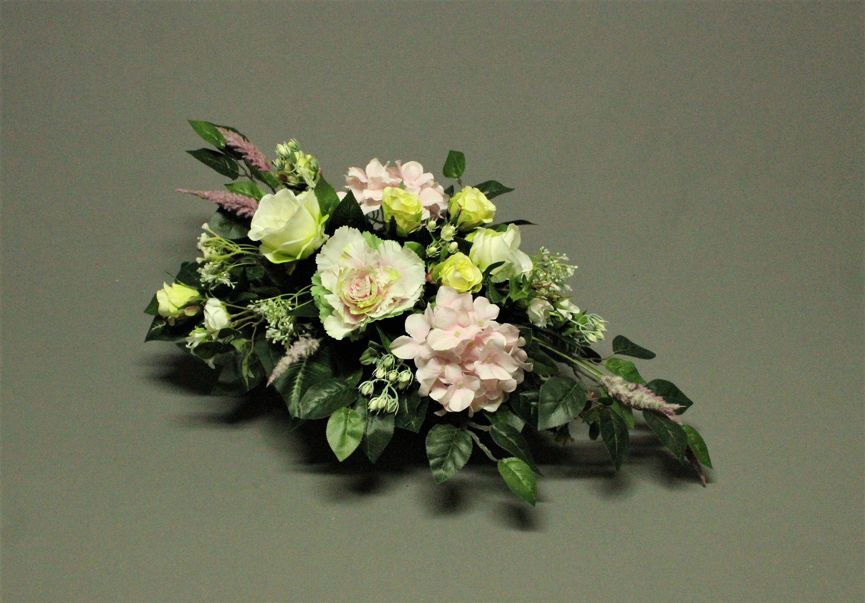 Dekoracja Nagrobna Kwiaty Sztuczne Dekoracja Na Pomnik Etsy Floral Floral Wreath Decor
