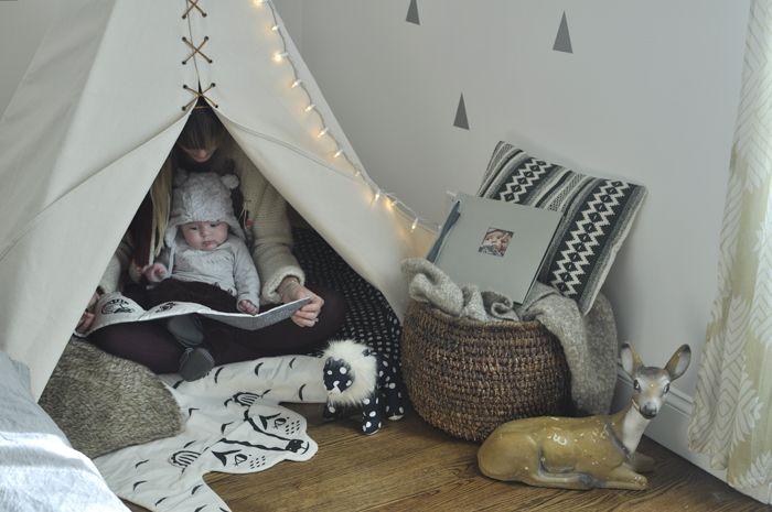 Déco originale pour la chambre de bébé. Chloé Fleuri, tipi pour ...