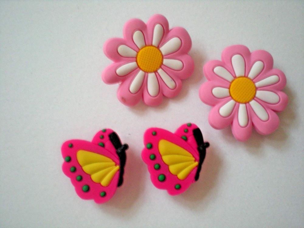 s Clog Shoe Charms Button Plug Holey Accessories WristBand Lady Bug