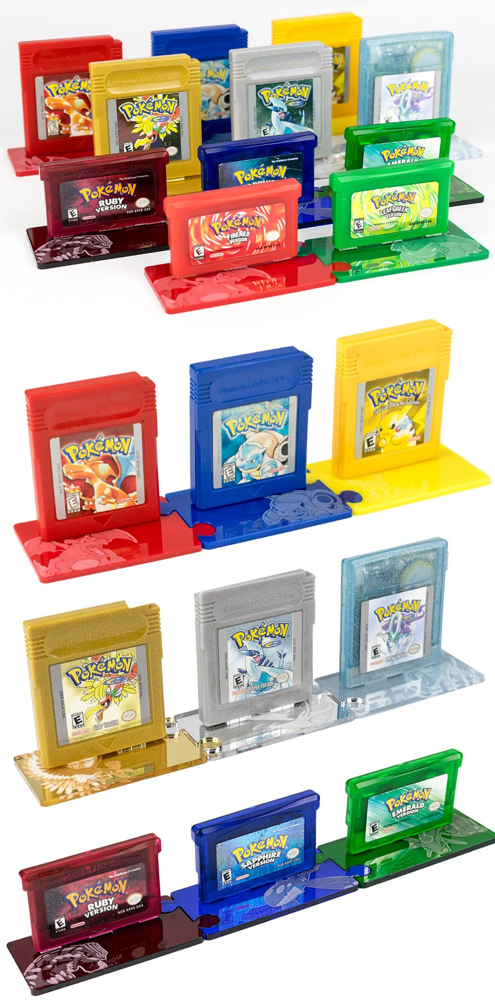 Pokemon Cartridge Display Stands Pokemon Merchandise Pokemon Games Pokemon
