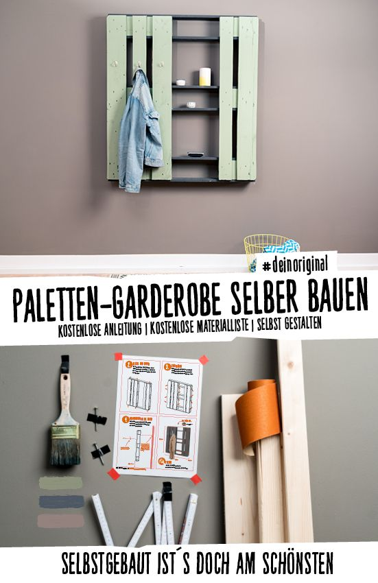 schicke garderobe aus paletten f r einen aufger umten flur deinoriginal i garderobe selber. Black Bedroom Furniture Sets. Home Design Ideas