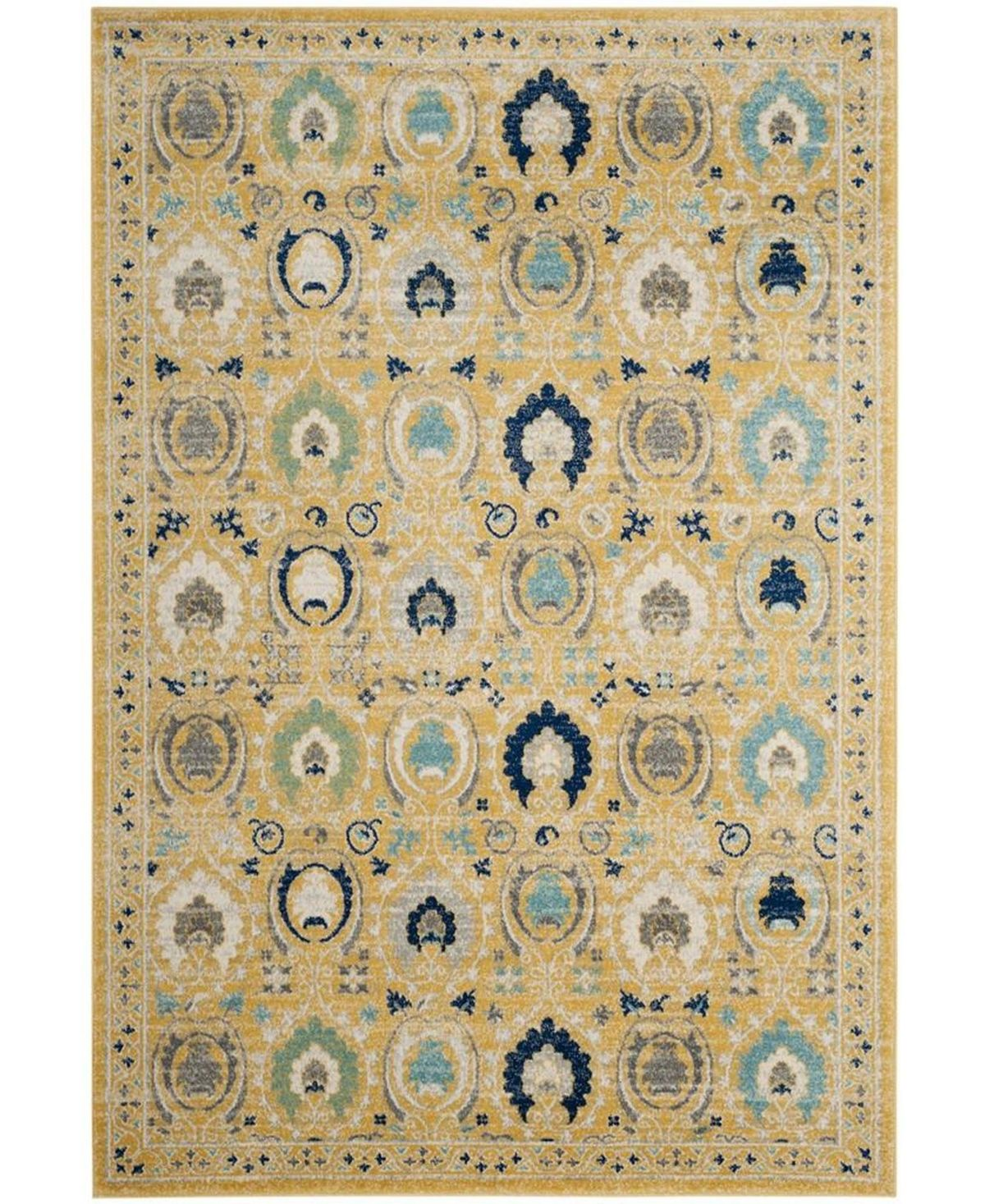 Safavieh Evoke Gold And Ivory 10 X 14 Area Rug Gold Square