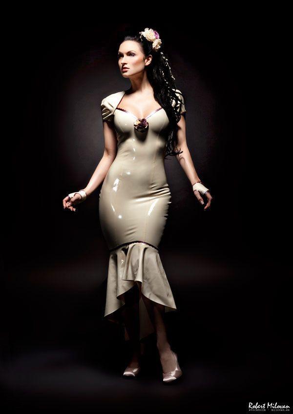 Latex Wedding Dress Victoria Gown. kr2,600.00, via Etsy. | Nachalo ...
