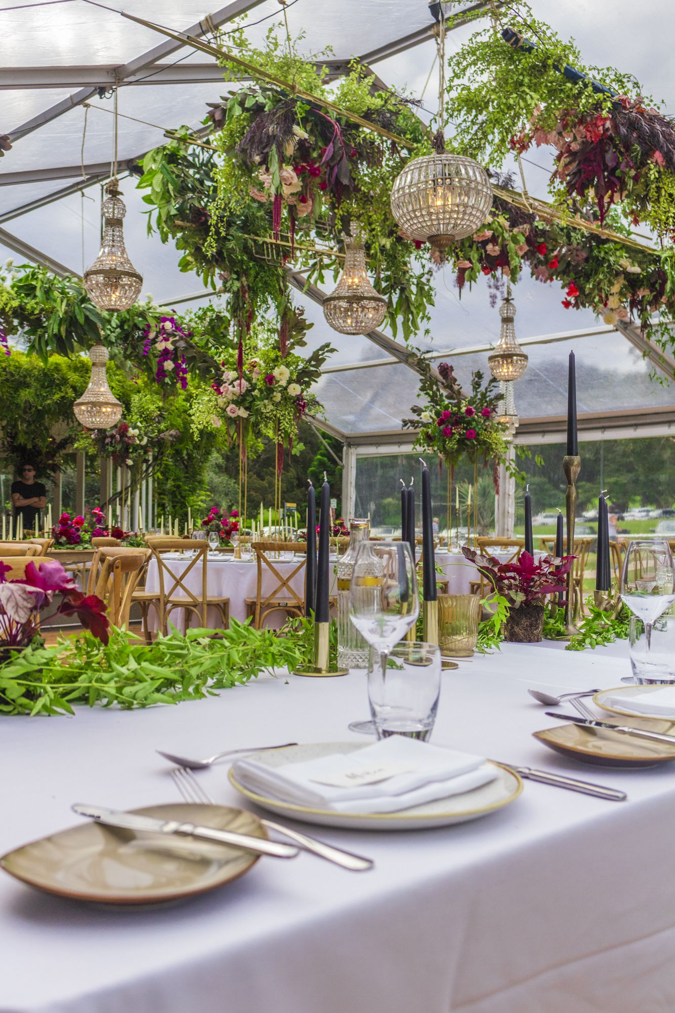Marquee Weddings // Florals by She Designs // Centennial