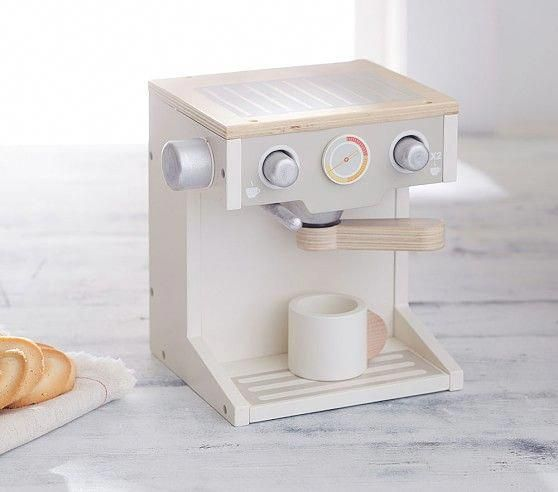 Wooden Espresso Machine Toy Kitchen Pottery Barn Kids
