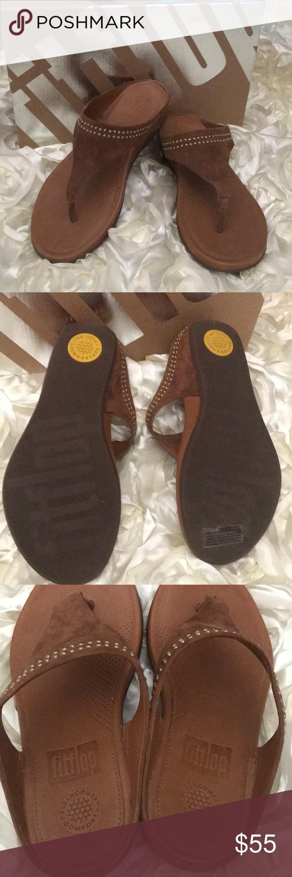 ac10d2fa903cc Fitflop Banda Sandals Brand new Banda Toepost with studs. Never worn. Tan  color