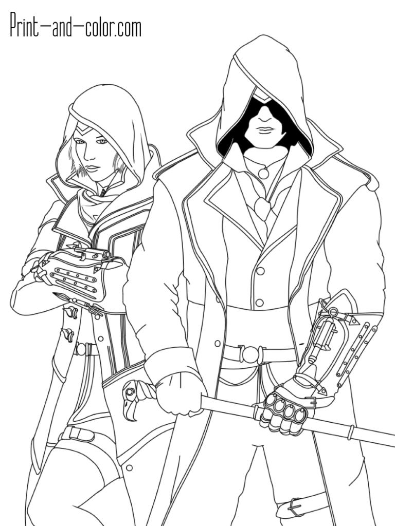 Jacob Frye Evie Frye Assassin S Creed Syndicate Assassins Creed Coloring Pages Assassin S Creed