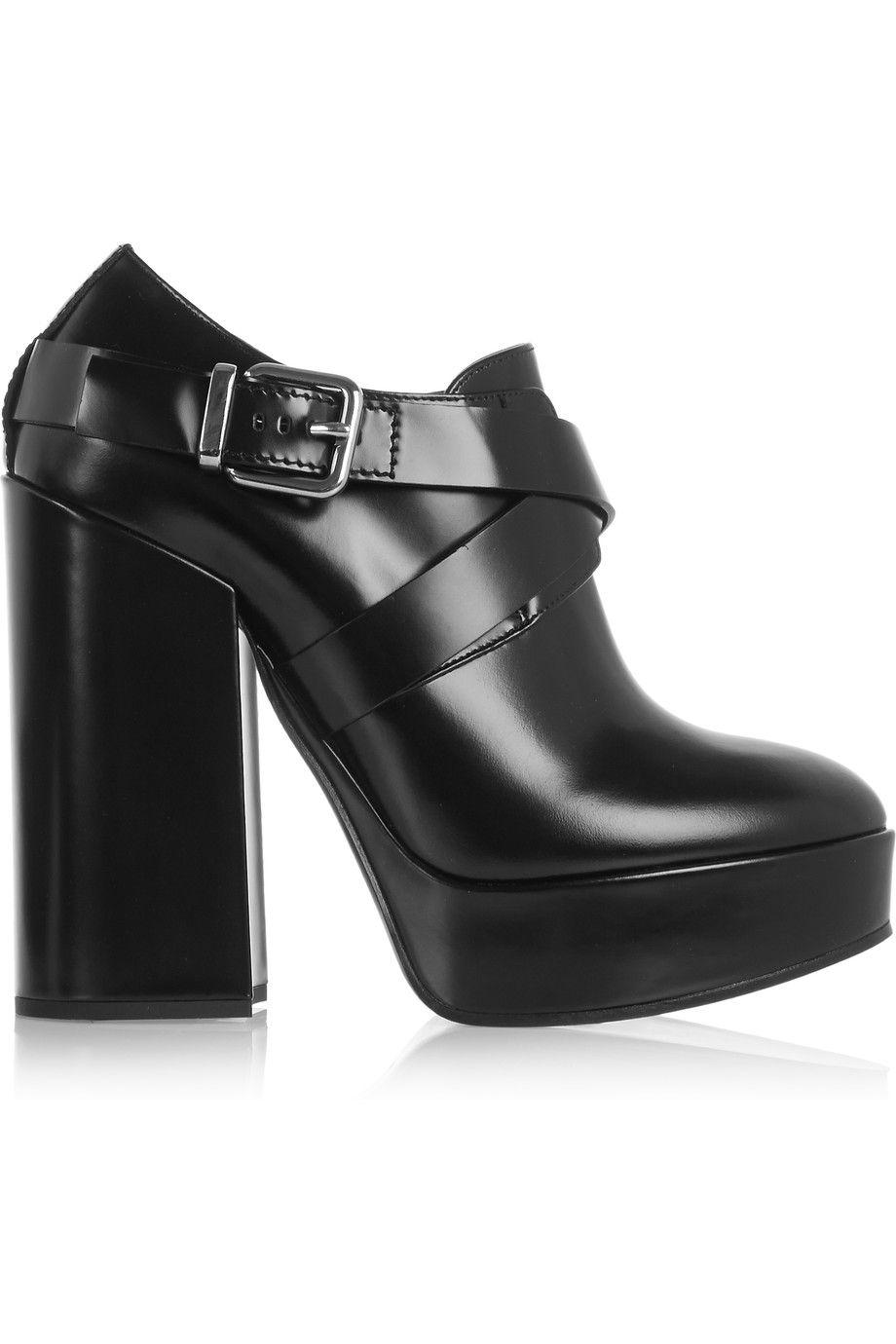 1e73f09ccd8 JIL SANDER Leather Platform Ankle Boots.  jilsander  shoes  boots ...