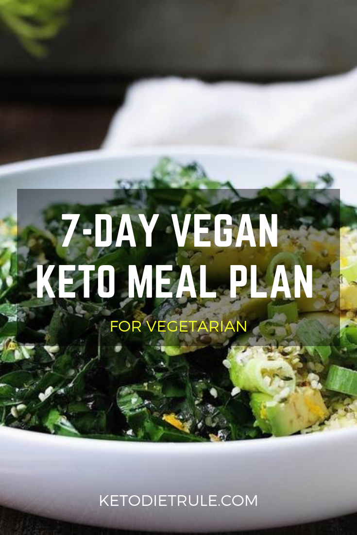 7-Day Vegan Keto Meal Plan for Beginner's to Lose Weight & Burn Fat