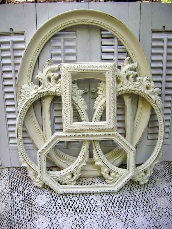 Picture Frame Assortment - Antique White Frames - Wedding Frames ...