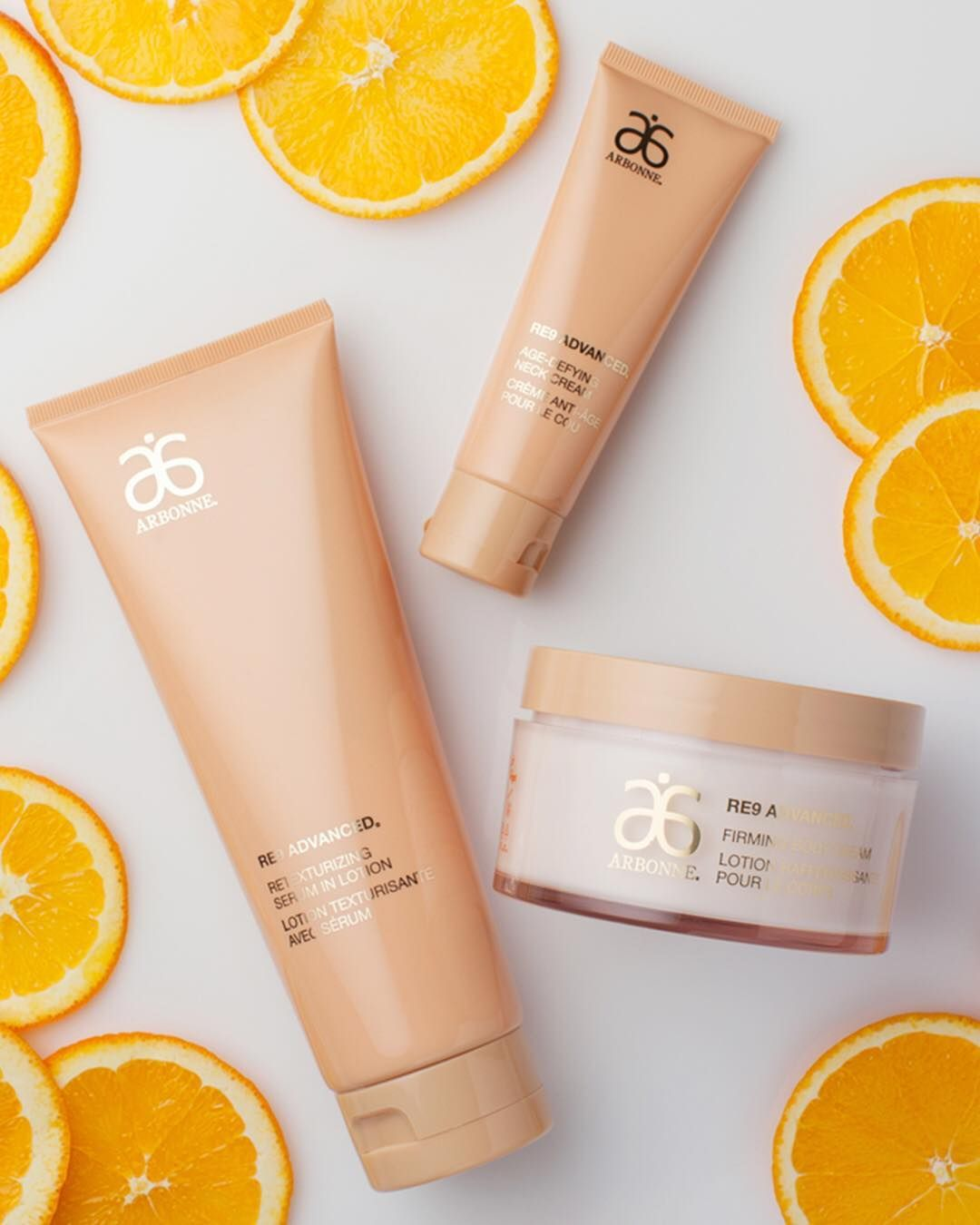 8c16029ae37 The new RE9 Advanced® Body Collection features the gold standard ingredient,  vitamin C, so you can get your glow on from head to toe!