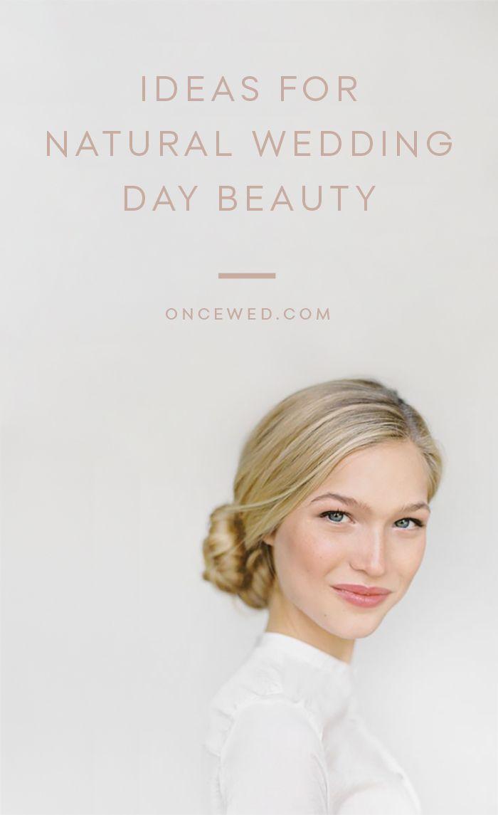 Natural Wedding Makeup Inspiration - Once Wed
