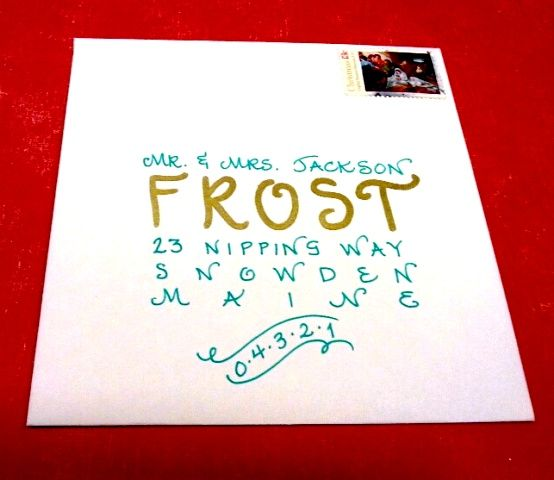 """""""Holiday"""" Writing Style In Gold & Teal. Www"""