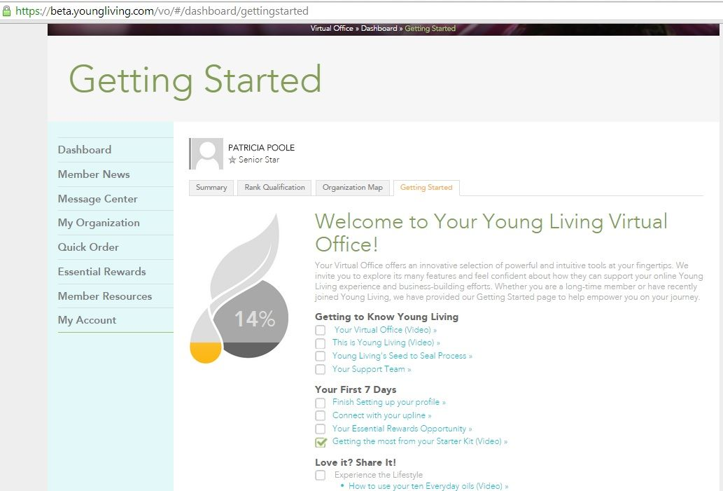 Wonderful Once You Create An Account With YL There Are Loads Of Resources To Help You  Learn. Start In Your Virtual Office, Go To Dashboard And Click The Getting  ...