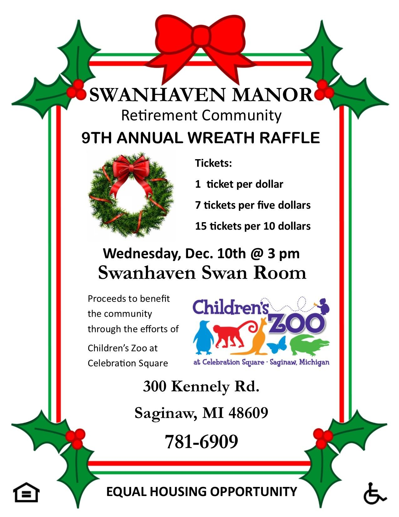 9th Annual Wreath Raffle Local Businesses Team Up To Decorate
