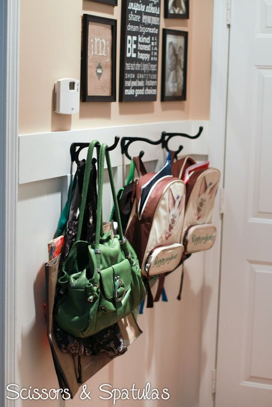 Love The Wall Hooks For Backpacks Good Idea Behind Front Door