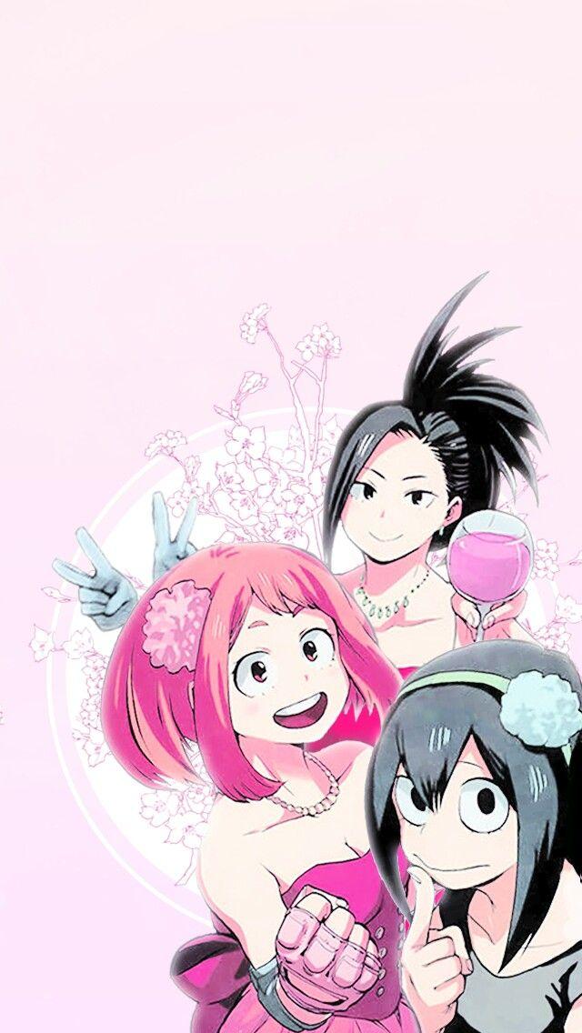 Asui Tsuyu Uraraka Ochako And Yaoyorozu Momo My Hero