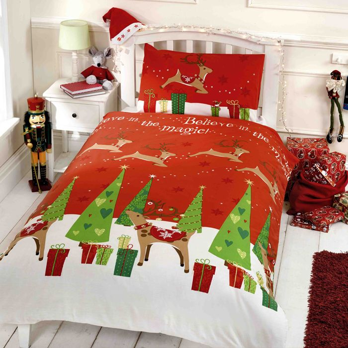 Christmas Kids Novelty Duvet Sets in Single, Toddler and Double Bed sizes