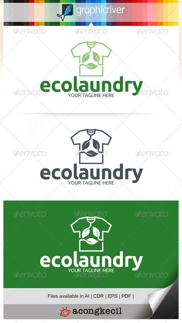 Eco Laundry V 2 Template Logo Suitable For Company Logo