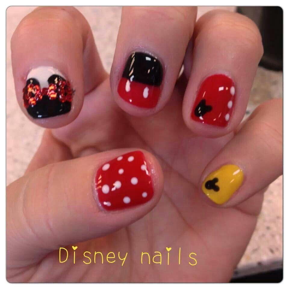 Minnie mouse nails   Nails   Pinterest   Diseños de uñas