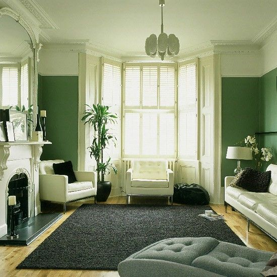 emerald and light green contrast two tones painting walls ideas rh gr pinterest com