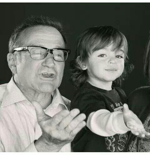 Robin Williams and August Hermann :)...Mariska Hargitay's son.
