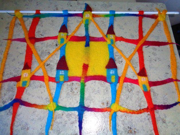 kinderzimmer gardine, scheibengardine 70x50cm | scheibengardine