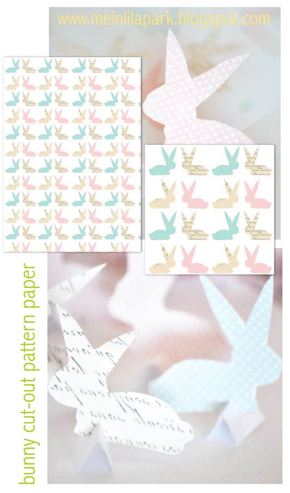 FREE Printable Bunny Cut Out Pattern Paper