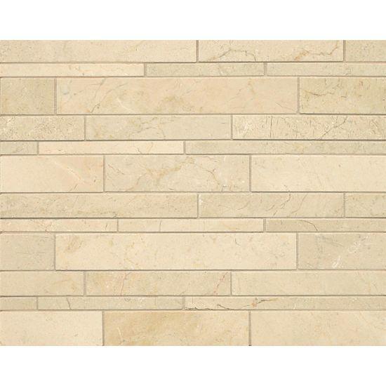 Stone Wall Accent Crema Marfil Floor: Crema Marfil Select Floor & Wall Mosaic