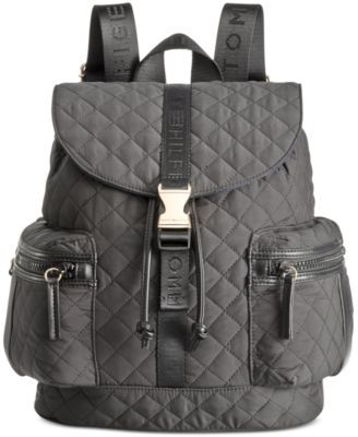 TOMMY HILFIGER Tommy Hilfiger Quilted Solid Nylon Backpack. #tommyhilfiger #bags #leather #lining #nylon #backpacks #