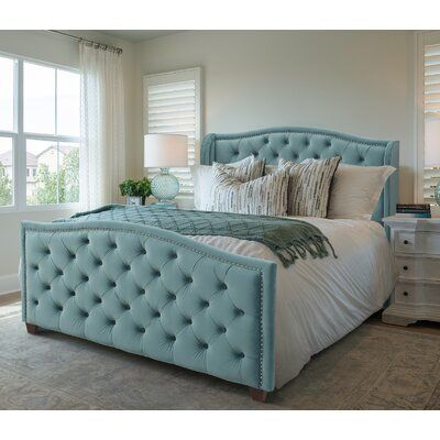 Willa Arlo Interiors Marlon Tufted Upholstered Low Profile Standard Bed | Wayfair.ca