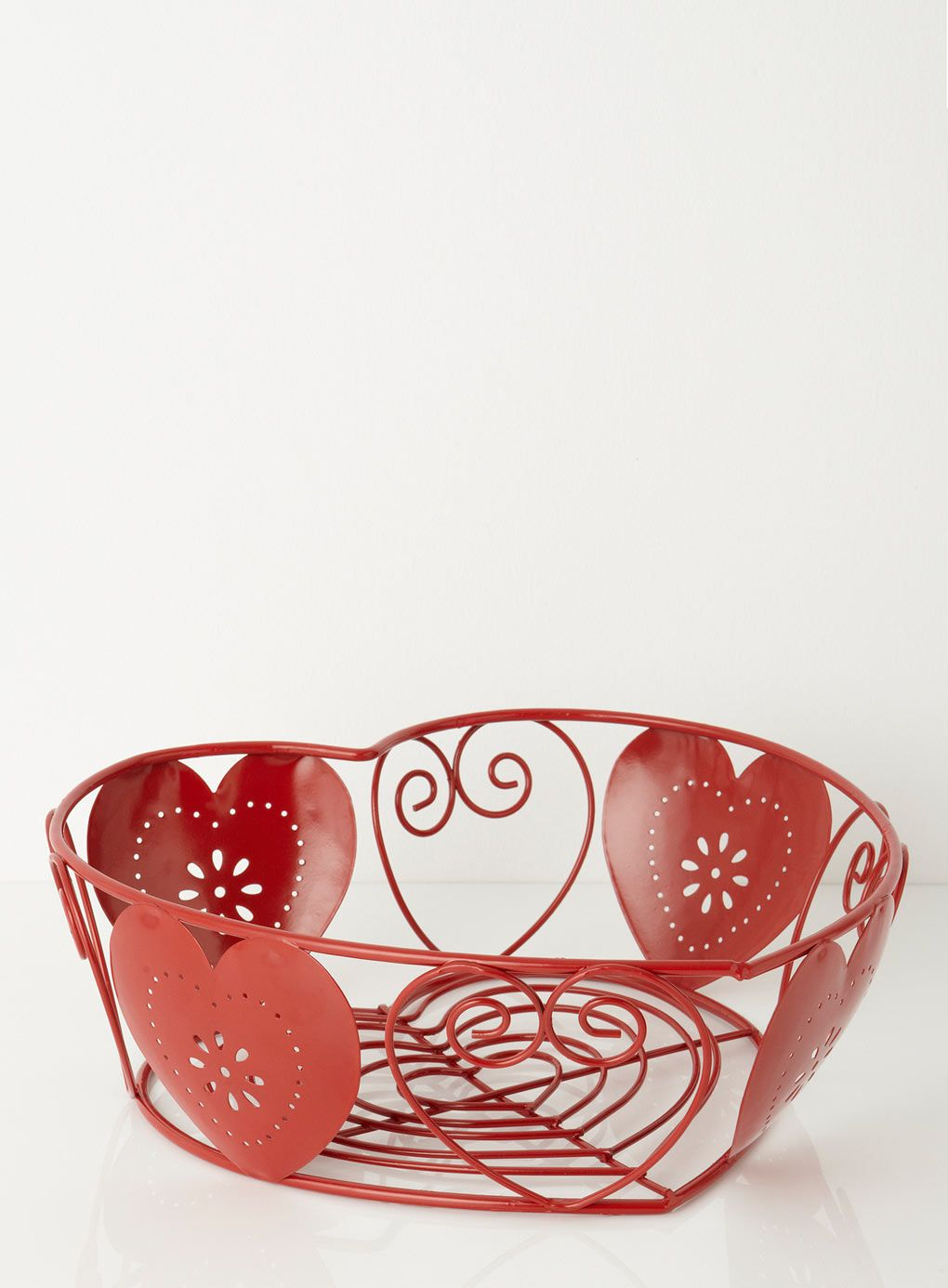 Wire Fruit Bowls Red Heart Wire Fruit Bowl Dining Accessories Dining