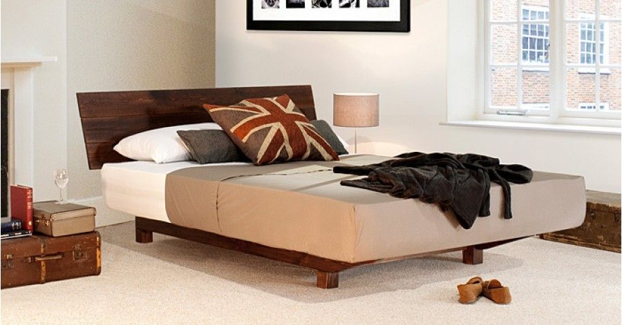 Floating Bed Space Saving Wooden Bed Low Bed