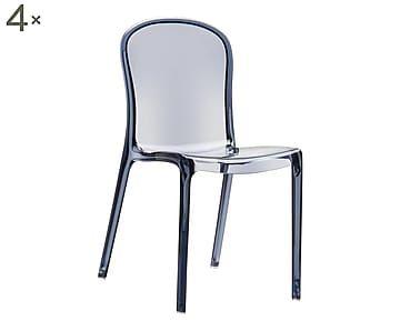 Sedie Fume ~ Set di sedie in legno ed ecopelle florida bianco cm
