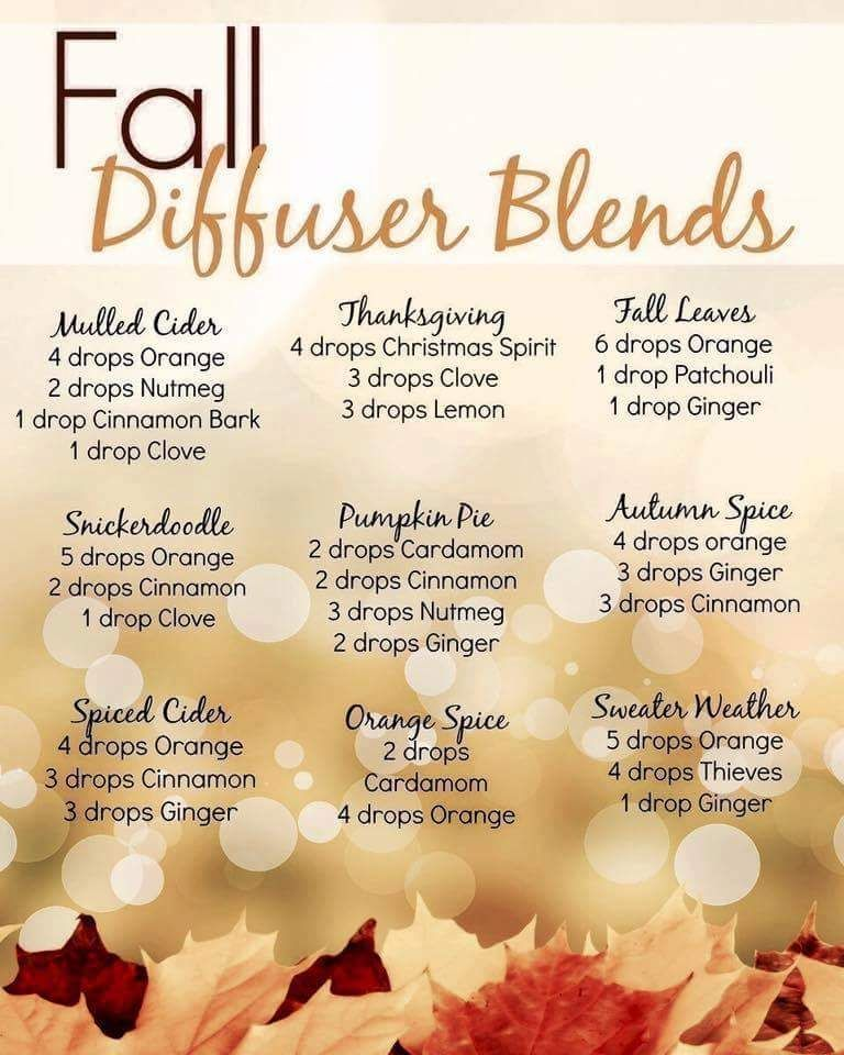 Young Living Fall diffuserblends