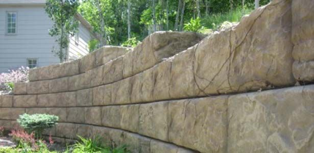 Large Retaining Wall Blocks Recon Wall Systems Concrete Retaining Walls Concrete Block Retaining Wall Retaining Wall Blocks